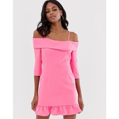 ユニーク21 UNIQUE21 レディース ワンピース ワンピース・ドレス Unique21 Frill Hem Dress ピンク