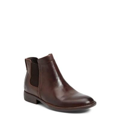 ボーン メンズ ブーツ&レインブーツ シューズ Min Leather Chelsea Boot DARK BROWN