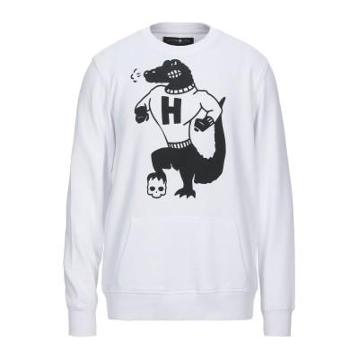 ハイドロゲン HYDROGEN スウェットシャツ ホワイト S コットン 100% スウェットシャツ