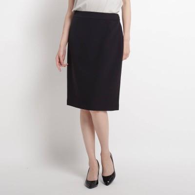 スーナウーナ SunaUna 【洗える】ストレッチタイトスカート (ブラック)