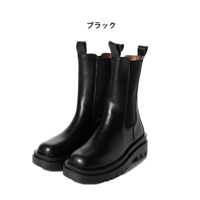 厚底サイドゴアロングブーツ(ブラック×35(22.0-22.5cm))