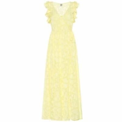 バウム ウンド ヘルガーデン Baum und Pferdgarten レディース ワンピース ワンピース・ドレス Aiza silk-blend maxi dress Lime Light