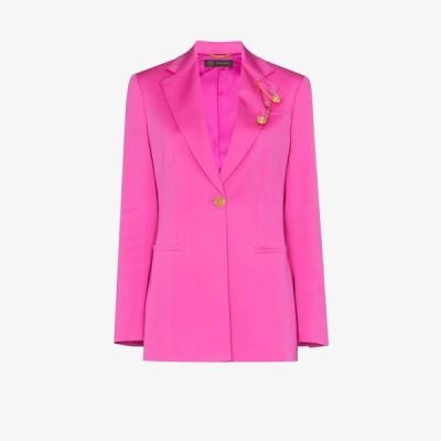 ヴェルサーチ Versace レディース スーツ・ジャケット アウター safety pin blazer pink