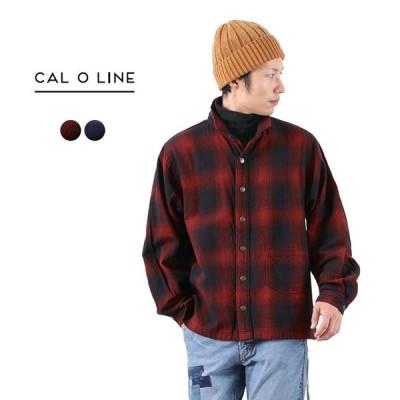 CAL O LINE(キャルオーライン) チェック アトリエ スモック スタンドカラー / シャツジャケット / 長袖 / メンズ / 日本製