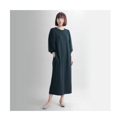 MARTHA(マーサ) チュール袖ポンチワンピース (ワンピース)Dress