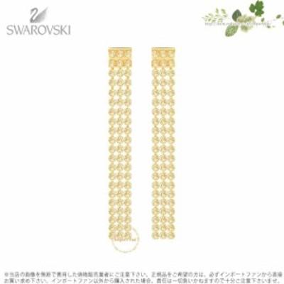 スワロフスキー フィット ロング ピアス ゴールド 5364807 Swarovski FIT LONG PIERCED EARRINGS, GOLDEN, GOLD PLATING □