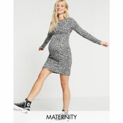 ママリシャス Mama.licious レディース ボディコンドレス マタニティウェア Mamalicious Maternity Bodycon Dress With Twist Front In G