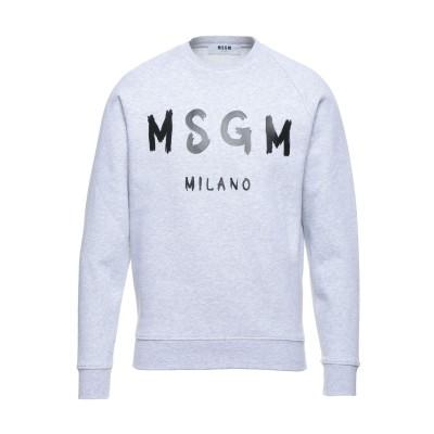 エムエスジーエム MSGM スウェットシャツ ライトグレー XS コットン 100% スウェットシャツ