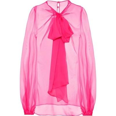 ヴァレンティノ Valentino レディース ブラウス・シャツ トップス silk chiffon blouse Shocking Pink