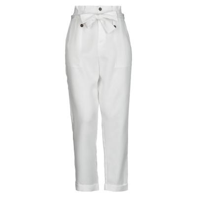VICOLO パンツ ホワイト S コットン 100% パンツ