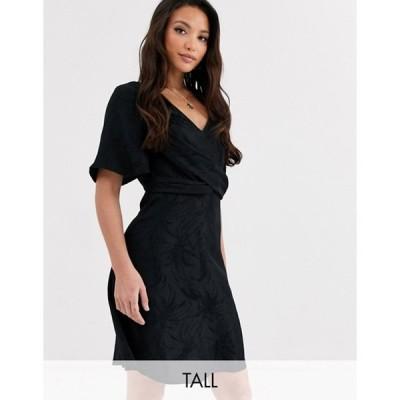 ワイエーエス レディース ワンピース トップス Y.A.S Tall Opia short sleeve knot front mini dress