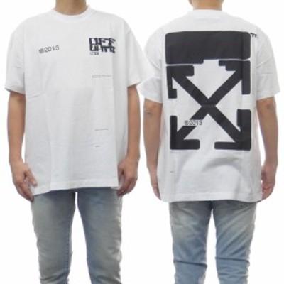 【セール 45%OFF!】OFF-WHITE オフホワイト メンズクルーネックTシャツ TECH MARKER S/S OVER TEE / OMAA038S21JER008 ホワイト
