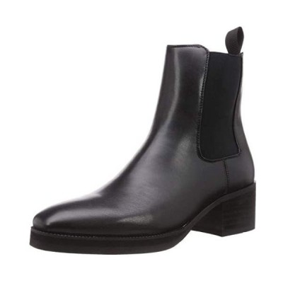 [グラベラ] ブーツ サイドゴア チェルシーブーツ ハイヒール ヒールアップ 6.0cm ロングノーズ GLBB-176(ブラック-A M~L)