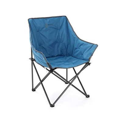 ARROWHEAD OUTDOOR Portable Folding Camping Quad Bucket Chair, Compact, Heavy-Duty, Steel Frame, Supports up to 250lbs   Includes Carrying Bag   USA-Ba