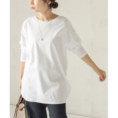 CAPRICIEUX LE'MAGE / シルケットBIGロンT2 WOMEN トップス > Tシャツ/カットソー