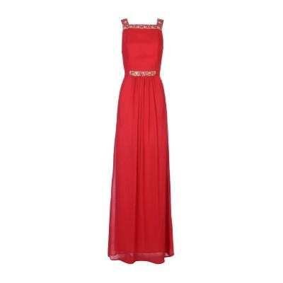 INTROPIA ロングワンピース&ドレス レッド 40 レーヨン 100% ロングワンピース&ドレス