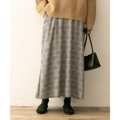 スカート F by ROSSO チェックフレアスカート