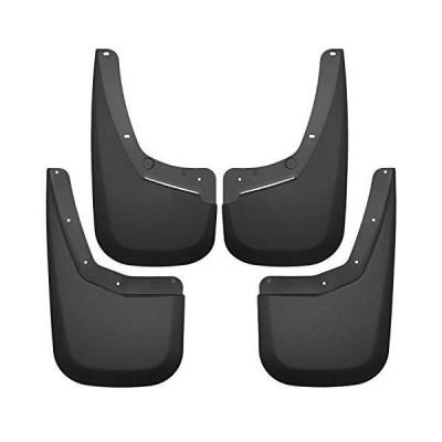 ハスキーLiners 56796泥ガードセット4?pc。ブラック適合モデルW/Oフェンダーフレアフロント、リアincl.インストールキット泥ガードセッ