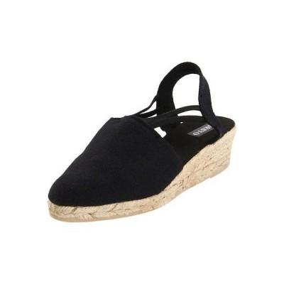 フラッツ&オックスフォード シューズ 靴 Sesto Meucci Sesto Meucci 9310 レディース ブラック キャンバス Slingbacks ウエッジs 11 ミディアム (B,M) BHFO