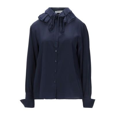 クロエ CHLOÉ シャツ ダークブルー 36 シルク 100% シャツ