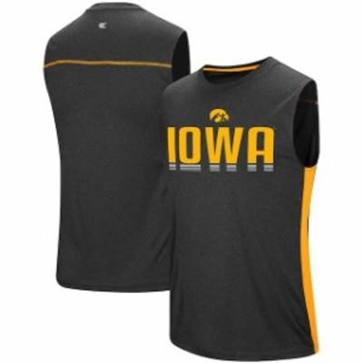 Colosseum コロセウム スポーツ用品  Colosseum Black Iowa Hawkeyes Hanging Curve Sleeveless T-Shirt