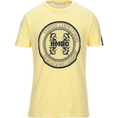 ハマキホ HAMAKI-HO メンズ Tシャツ トップス T-Shirt Yellow