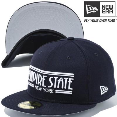 ニューエラ 5950キャップ ホワイトロゴ エンパイアステート ニューヨーク ネイビー ホワイト New Era 59FIFTY Cap White Logo Empire State New York Navy Navy