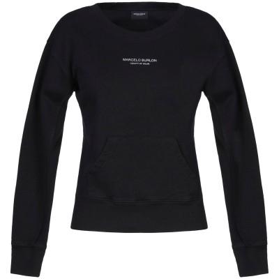 マルセロ ブロン MARCELO BURLON スウェットシャツ ブラック S コットン 100% スウェットシャツ