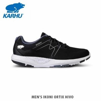 KARHU カルフ イコニOrtix HiVo ジェットブラック/フォークストーングレー 2E メンズ スニーカー ランニングシューズ  KH100284