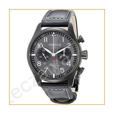Alpina al-860gb4fbs6メンズLtd Ed Startimer自動クロノブラック本革グレーダイヤル腕時計並行輸入品