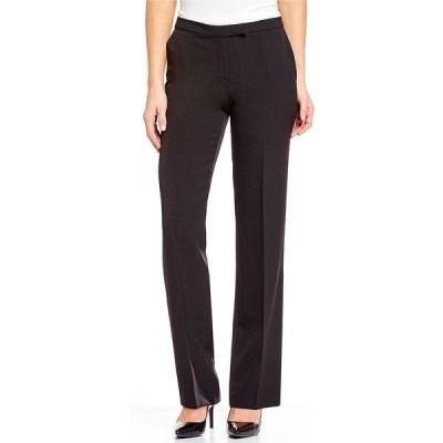 カスパー レディース カジュアルパンツ ボトムス Petite Size Stretch Crepe Straight-Leg Pants Black