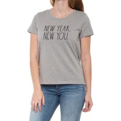 レイダン Rae Dunn レディース Tシャツ トップス new year new you t-shirt - short sleeve Lt Hthr Grey/Blk Font