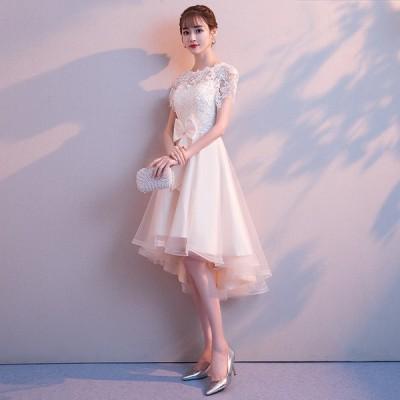 パーティードレス 安い 可愛い イブニングドレス ノースリーブ カラードレス 結婚式 披露宴 2次会 発表会 フィッシュテール【フィッシュテール】