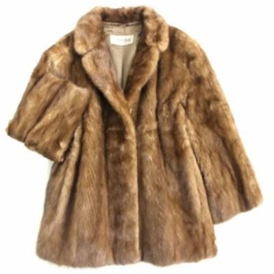 毛並み極美品▼LUPIAN FUR MINK ルピアンファー ミンク 本毛皮コート ブラウン 毛質艶やか・柔らか◎