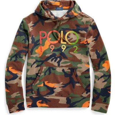 ラルフ ローレン POLO RALPH LAUREN メンズ パーカー スウェット トップス Logo Camo Fleece Hoodie Military green