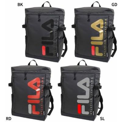フィラ メンズ レディース スクエアリュック リュックサック デイパック バックパック バッグ 鞄 撥水 大容量 ボックス型 スクエア型 FL-0005