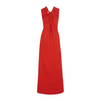 ランバン LANVIN ロングワンピース&ドレス レッド 42 レーヨン 97% / ポリウレタン 3% ロングワンピース&ドレス