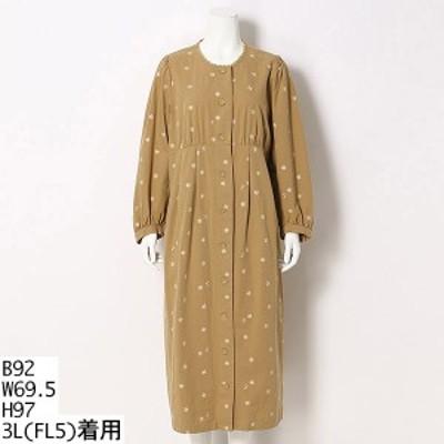 【NEW】フランシュリッペ(大きいサイズ)(franche lippee)/マーガレット刺繍ワンピース