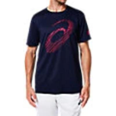 アシックス ビッグロゴショートスリーブトップ Tシャツ 半袖 2031A669 ピーコート メンズ 2019SS トレーニング スポーツ ゆうパケット(メール便)対応