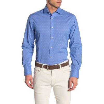 トーマスディーン メンズ シャツ トップス Geometric Print Performance Shirt BLUE