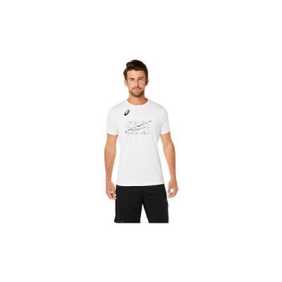 アシックス(ASICS) バレーボールウェア ショートスリーブトップ 2051A296.100 (メンズ)
