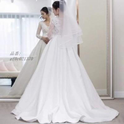 二次会 大きいサイズ 結婚式 ロングドレス パーティードレス ワンピース Aラインドレス 安い 花嫁 挙式 前撮り発表会 ウェティグドレス