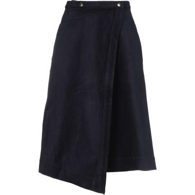 アクネ ストゥディオズ ACNE STUDIOS ひざ丈スカート ダークブルー 32 コットン 69% / ナイロン 16% / レーヨン 13%