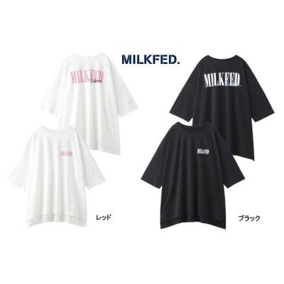 MILKFED Tシャツ ミルクフェド BIG SS TEE LAYER CA ビッグT ワンピース 半袖   103201011030