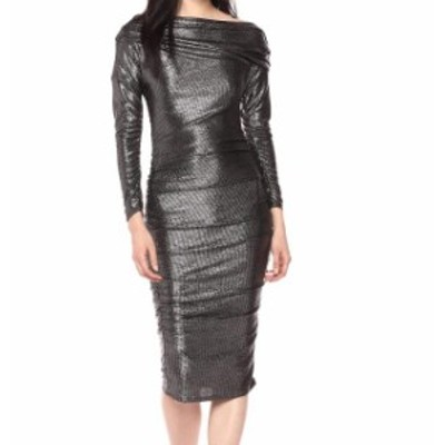 Rachel Roy レイチェルロイ ファッション ドレス Rachel Rachel Roy Womens Dress Silver Size Medium M Sheath Draped