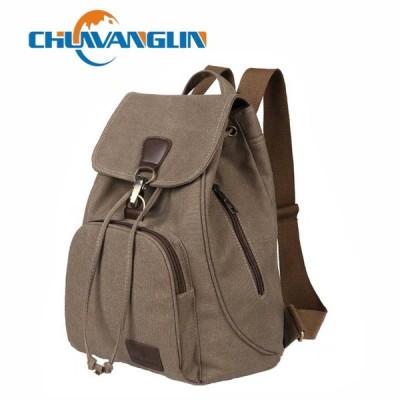 Chuwanglin 女性のキャンバスバックパック プレッピースタイルスクールレディ学生学校のラップトップバッグ