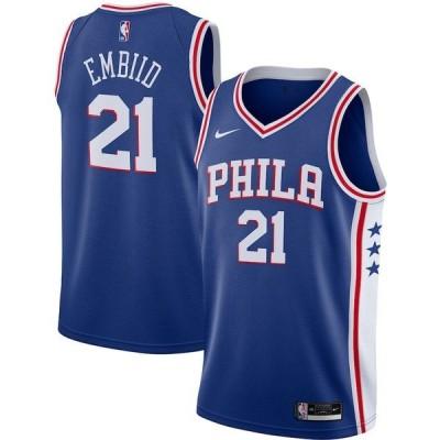ナイキ メンズ Tシャツ トップス Joel Embiid Philadelphia 76ers Nike 2020/21 Swingman Jersey