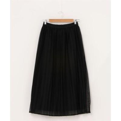 スカート SHIPS any: ダイヤレースプリーツスカ−ト
