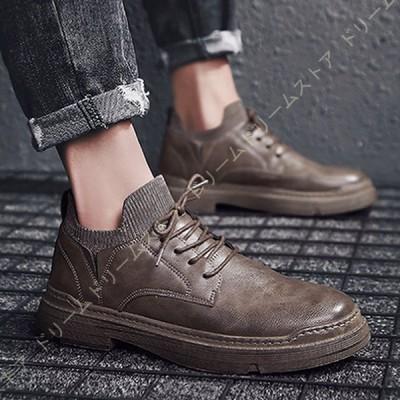 メンズ ブーツ  ショートブーツ シューズ 靴 カジュアル  無地  革靴 メンズファッション  歩きやすい プレゼント ギフト 男性 彼氏 父 誕生日 ワークブーツ