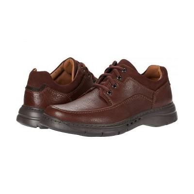 Clarks クラークス メンズ 男性用 シューズ 靴 オックスフォード 紳士靴 通勤靴 Un Brawley Lace - Mahogany Tumbled Leather